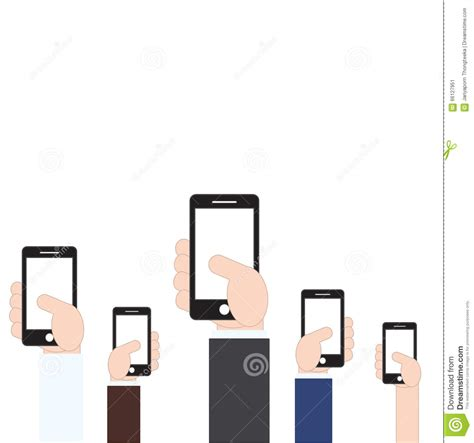 flat mobile mobile phone in flat style vector illustration