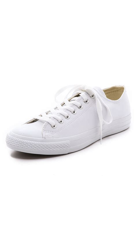 all white leather sneakers converse chuck all leather sneakers in white
