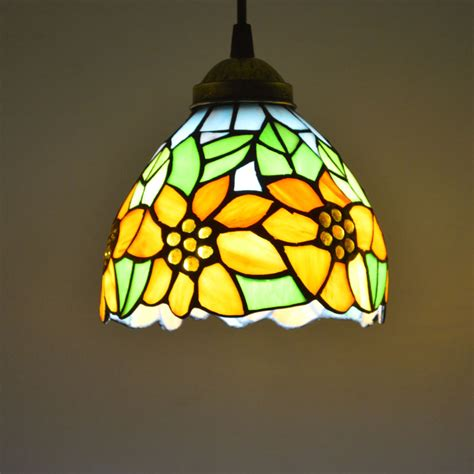 tiffany dining room light tiffany pendant light stained glass sunflower country