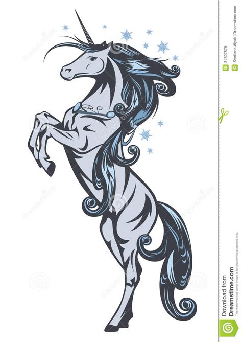 unicorn fairy tale illustrations winter horse vector royalty free stock images image