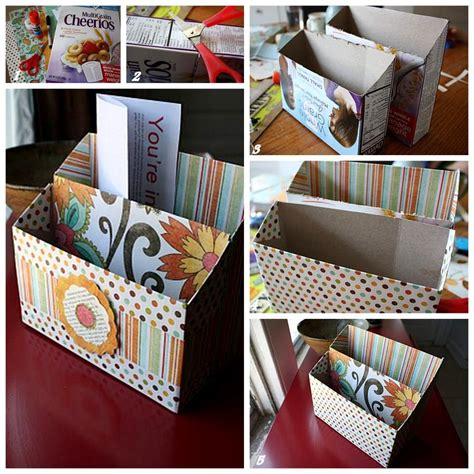 diy craft box diy crafts with cereal boxes modern magazin