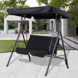 Patio Swing Black Black Outdoor Patio Swing Canopy Awning Yard Furniture