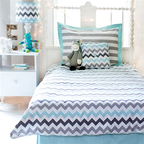 chevron bedding set chevron bedding set in aqua by my baby sam