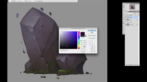 tutorial video digital drawing of rock youtube