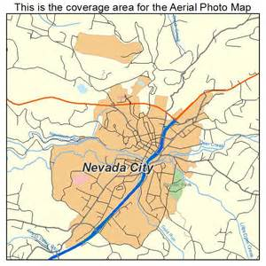 aerial photography map of nevada city ca california