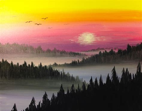 paint nite mountain view 490 best images about acrylic paintings on