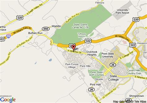 state college pennsylvania map map of fairfield inn and suites state college state college