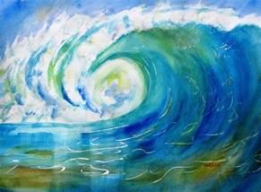 Seaside Duvet Cover Ocean Wave Painting By Carlin Blahnik