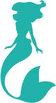 Mermaid Ariel Outline by Ariel Silhouette Free Vector Silhouettes