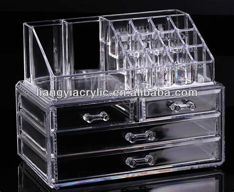 cosmetic organizer makeup drawers display box acrylic