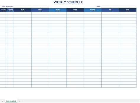Free Work Schedule Templates For Word And Excel Schedule Template