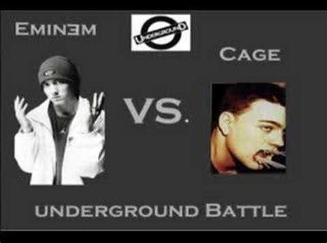 eminem underground eminem cage diss freestyle underground battle