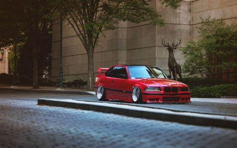 lowered cars wallpaper car bmw e36 stance tuning lowered german cars street trees