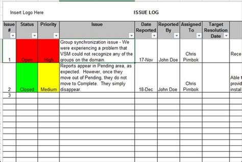 issue log template excel provide a project issue log in excel fiverr