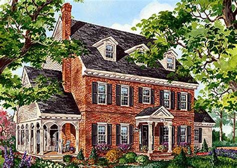 brick colonial house plans classic brick colonial home 80696pm 2nd floor master