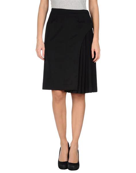 fendi knee length skirt in black save 52 lyst