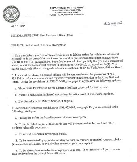 National Guard Unit Transfer Request Letter Dan Choi Explains Why I Cannot Stay Abc News