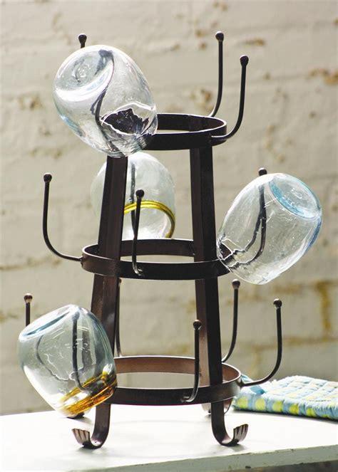 rustic glass dryer rack vintage bottle drying rack