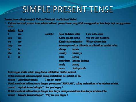 contoh simple present tense pattern 1 30 contoh kalimat simple present tense