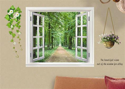 artificial windows for basement avenue scenery outside fake window wall sticker wall