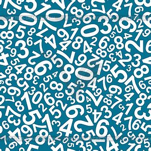 Number Pattern Clipart | seamless pattern with numbers vector clipart
