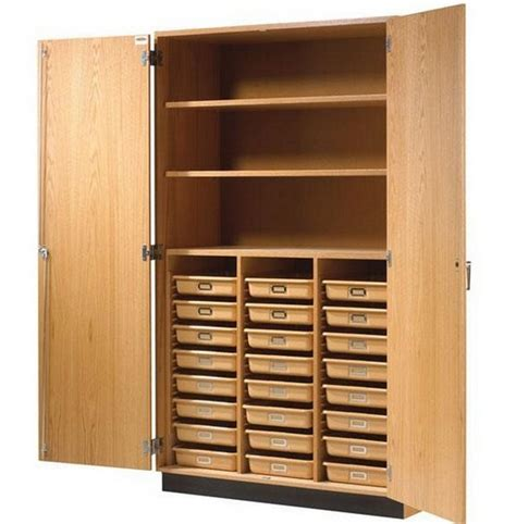 Storage Cabinets With Doors Wood Tall Wood Storage Cabinets With Doors And Shelves Home