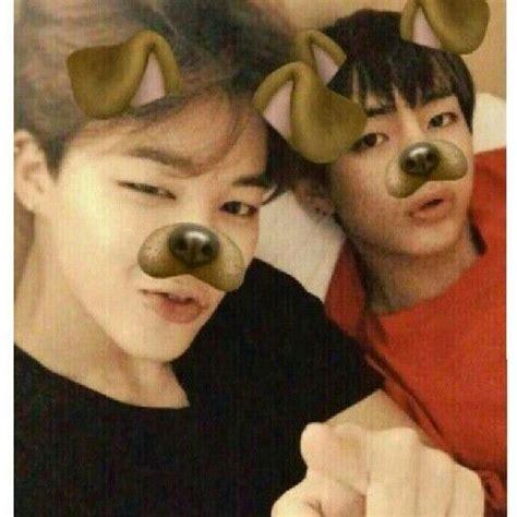 jimin  taehyung  puppy snapchat filters bts