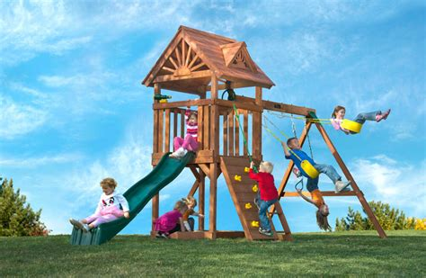 cedarworks swing set eco friendly playgrounds nifty homestead