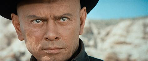 film western yul brynner the cast includes ed harris playing the man in black