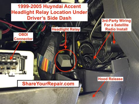 2003 hyundai accent wiring diagram headlights 2003 hyundai