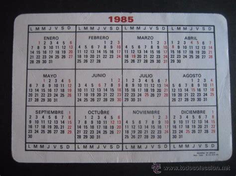 Calendario De 1985 Calendario Donuts 1985 Comprar Calendarios Antiguos En