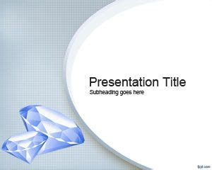 Diamond Powerpoint Template Ppt Template Jewelry Ppt Templates Free