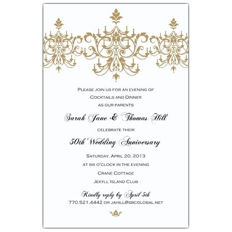 50th Anniversary Party Invitations Template Resume Builder Wedding Anniversary Invitation Templates