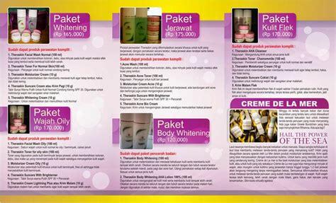contoh desain brosur iklan contoh desain brosur kosmetik cantik dan menarik desain
