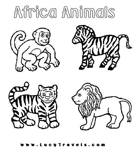 jungle animals coloring pages preschool 17 best images about africa on pinterest black child