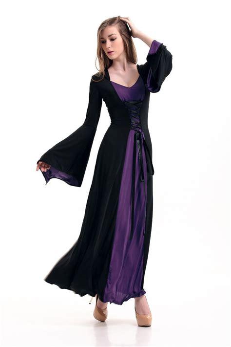 Sale Dress Import 5915 Black Size M purple black hooded gown y costume dress alternatwist imports