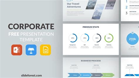 Corporate Free Powerpoint Template Presentation Templates For Powerpoint Free