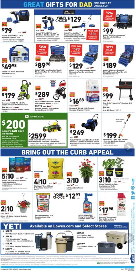 lowes weekly ad june  june   celebrate father