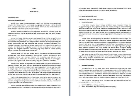 format makalah lengkap contoh makalah analisis swot lengkap format docx