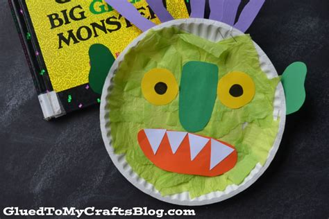green craft paper paper plate green kid craft