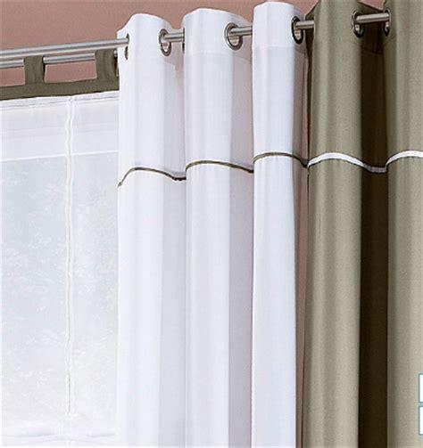 Gardinen Blickdicht Grau by 1 St Vorhang Gardine Store 140 X 225 Wei 223 Kitt Grau