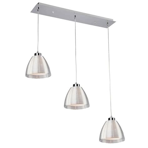 Multi Light Pendant Filament Design Aoba 3 Light Silver Multi Light Pendant Cli Acg313605 The Home Depot
