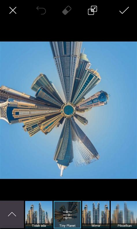 tutorial foto picsart tutorial picsart cara membuat efek kota melingkar di