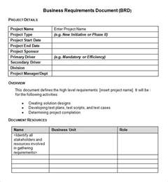 Business Requirement Templates sle business requirements document 6 free documents