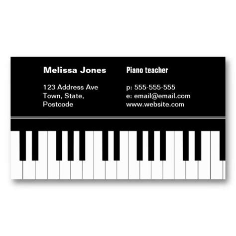 free piano business card template 20 best piano business cards images on