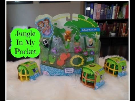 jungle in my pocket playset pet carrier blind bags unboxing