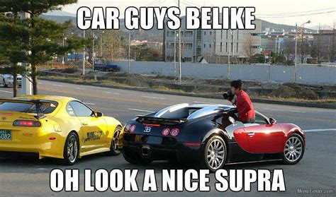 Bugatti Meme - you know supra is better car than a bugatti
