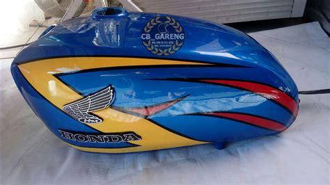 Tangki Glatik Cb 100 cb style kuning modifikasi motor japstyle terbaru