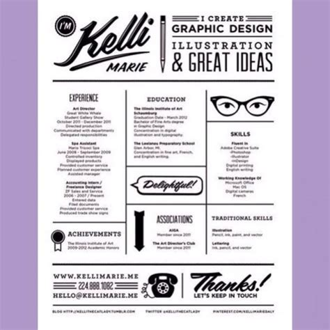 can i incorporate graphic design into my resume intern