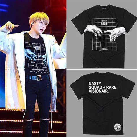 Kaos Tshirt Bts Wings kpop bts suga t shirt unisex tshirt bangtan boys merchandise cotton ebay